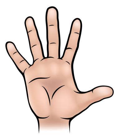 인간의 손 본문 부분의 그림 스톡 콘텐츠 - 64448081