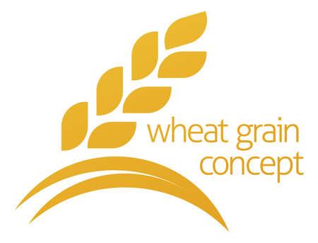 Koncepcyjne ilustracja ikona ziarna pszenicy lub kukurydzy z miejsca na tekst