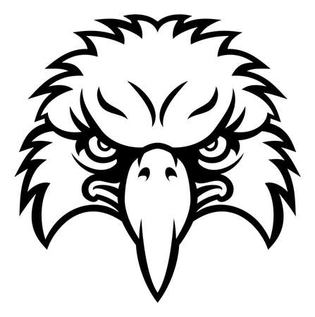Eagle bird character sports mascot head