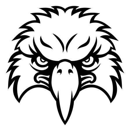 Eagle bird karakter sporten mascotte hoofd Stockfoto - 68815935