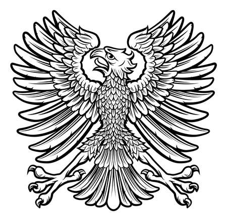 An imperial coat of arms style eagle bird emblem