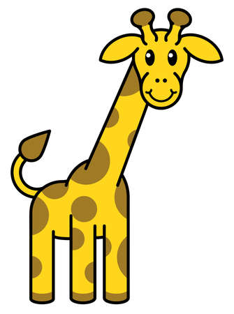 cartoon mascotte Giraffe dier