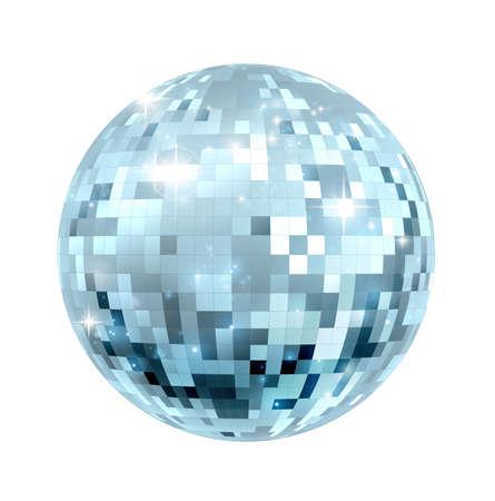 A glitter disco mirror ball nightclub decoration Illustration