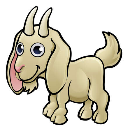 A goat animal cartoon character