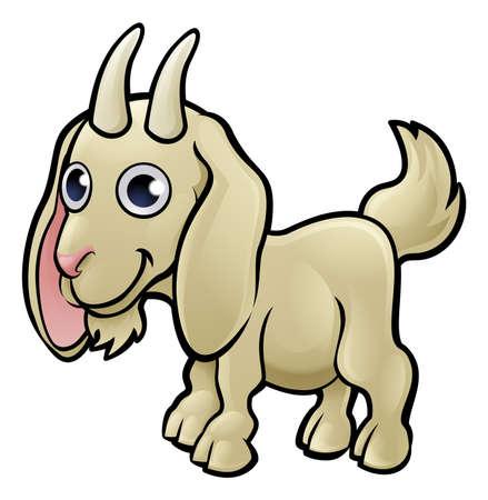 Un personaje de dibujos animados de animales de cabra