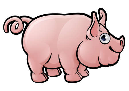 A pig animal cartoon character