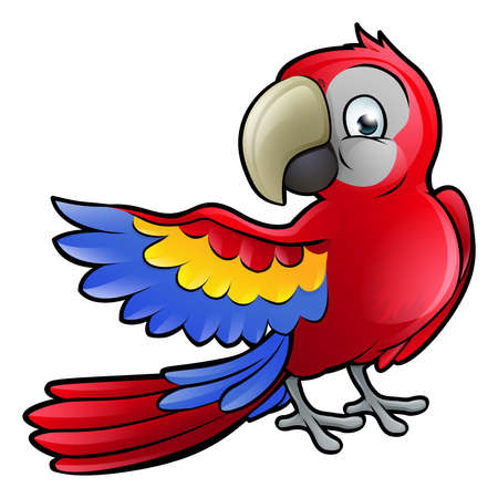 A parrot bird safari animals cartoon character