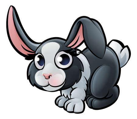 Een konijn boerderij dieren cartoon karakter