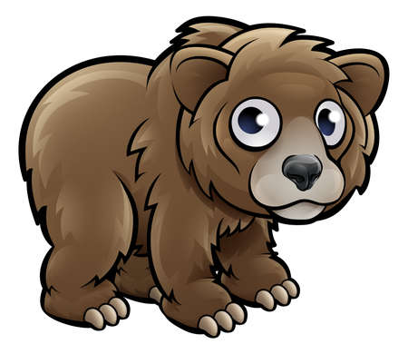 A grizzly bear animals cartoon character