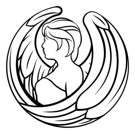 A Virgo angel horoscope astrology zodiac sign symbol