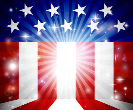 An American flag, possibly 4th of July, background