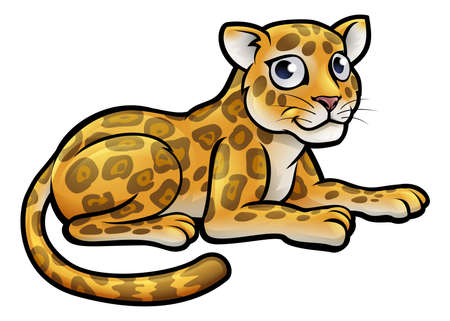 A leopard or jaguar cartoon character