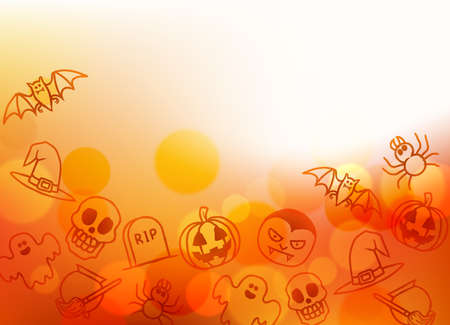 A Halloween themed background illustration