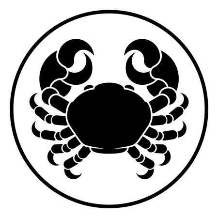 Krebs Krabben Horoskop Astrologie Sternzeichen Zeichen Standard-Bild - 80265359