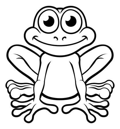 カエルの漫画のキャラクター  イラスト・ベクター素材