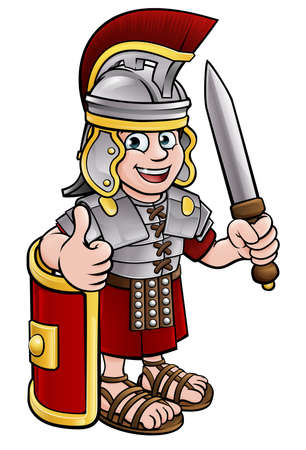 Ancient Roman Soldier Ilustrace