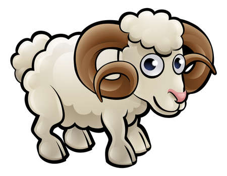 Ram Farm Animals Cartoon Character