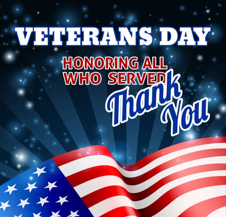 American Flag Veterans Day Background Imagens - 81961007
