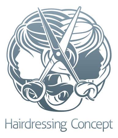 Stylist Hair Salon Hairdresser Concept Иллюстрация