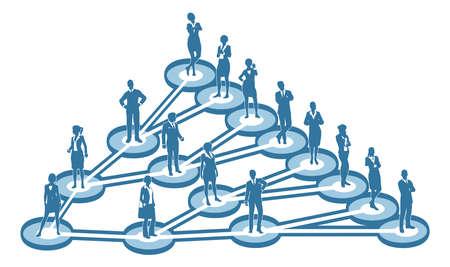 Concetto di rete virale di marketing di marketing Vettoriali