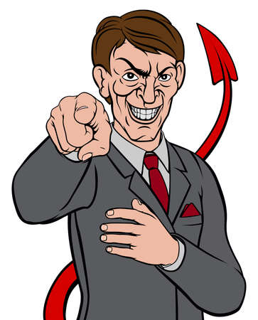 Businessman Devil Tail Illustration