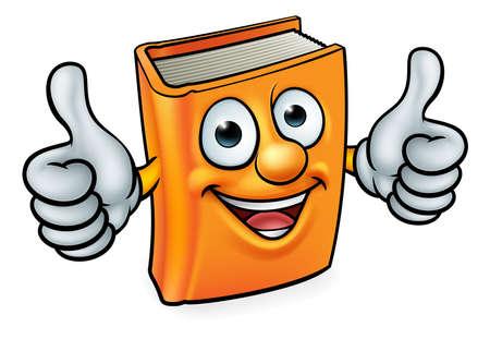 Cartoon Book Character Mascot Ilustração