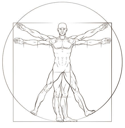 Vitruvian Man Stock Illustratie