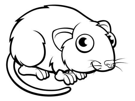 Vole Cartoon Charakter Standard-Bild - 82351227