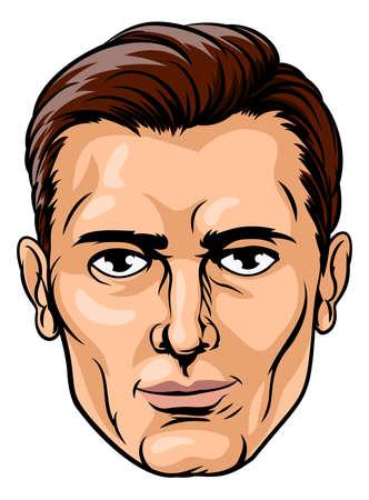 ハンサムな男性の顔  イラスト・ベクター素材