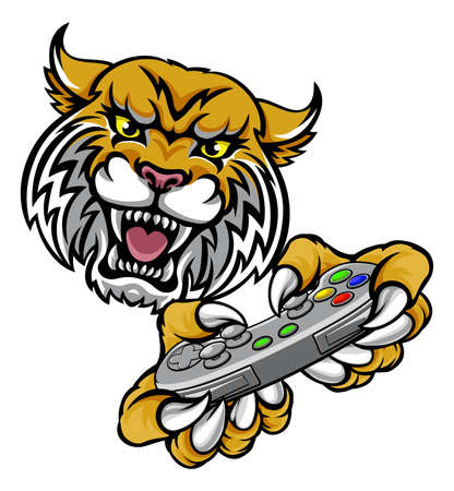 Wildcat Bobcat Player Gamer Mascot
