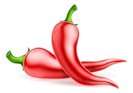 Rode Chili Peppers Illustratie