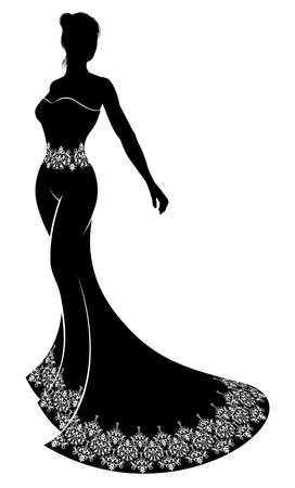 Wedding Silhouette Bride Illustration
