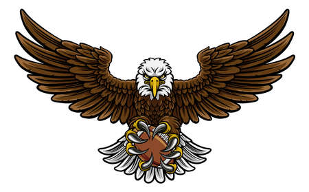 Eagle Fútbol americano Mascota Deportiva Foto de archivo - 82982229