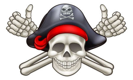Pirate Skull and Crossbones Banque d'images - 83081129
