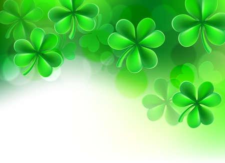St Patricks de Klaverachtergrond van de Dagklaver