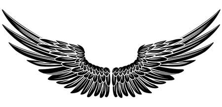 Eagle Bird of Angel Wings Stock Illustratie