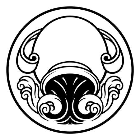 Aquarius jug horoscope astrology zodiac sign icon Reklamní fotografie - 83402076
