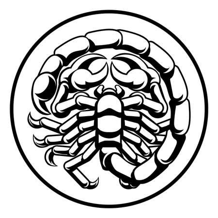 Scorpio Scorpion Horoscope Zodiac Sign Illustration