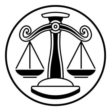 El zodiaco firma las escalas de Libra Foto de archivo - 83433532