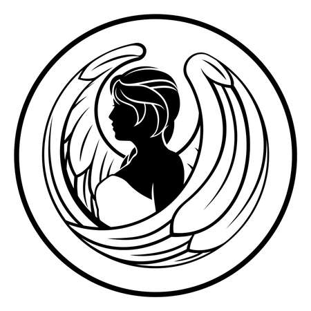 Signe Horoscope du zodiaque de la Vierge Banque d'images - 83433535