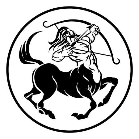 Signo del horóscopo del zodiaco del centaur Foto de archivo - 83433536