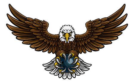 Eagle Bowling Sports Mascot. Illusztráció