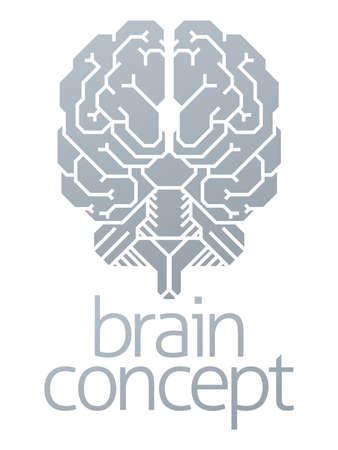 Brain Concept on white background, vector illustration.