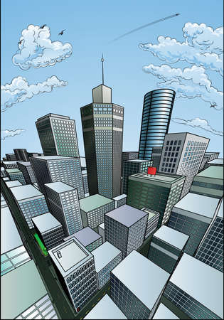 City Background 일러스트