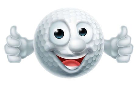 Golf Ball Man on white background, vector illustration.