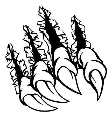 Monster Claws Graphic on white background, vector illustration. Illustration