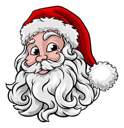 Santa Claus Christmas Illustration Vettoriali