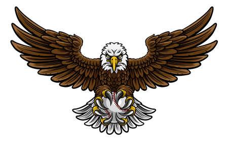 Eagle Baseball Sports Mascot Иллюстрация