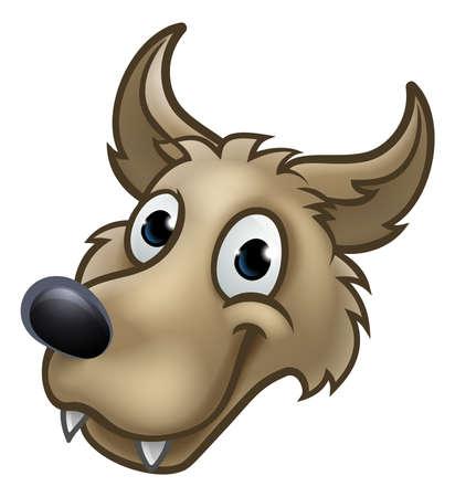 Mascote de personagem de desenho animado lobo Foto de archivo - 85353707