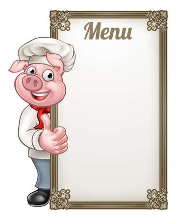 Ilustración del cerdo. Foto de archivo - 85577786